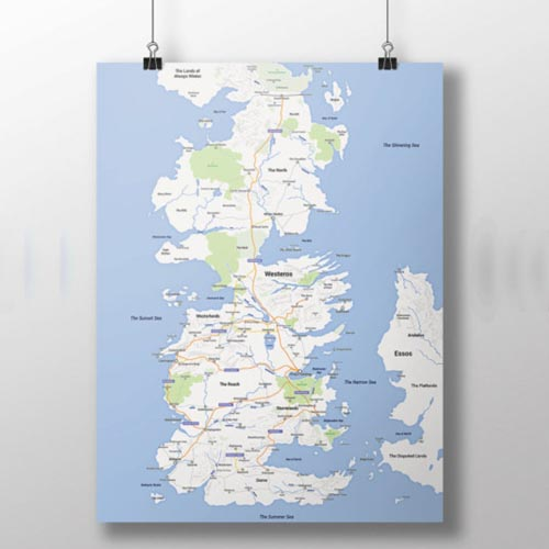 Game Of Thrones Google Map Of Westeros Nerdshizzle Com